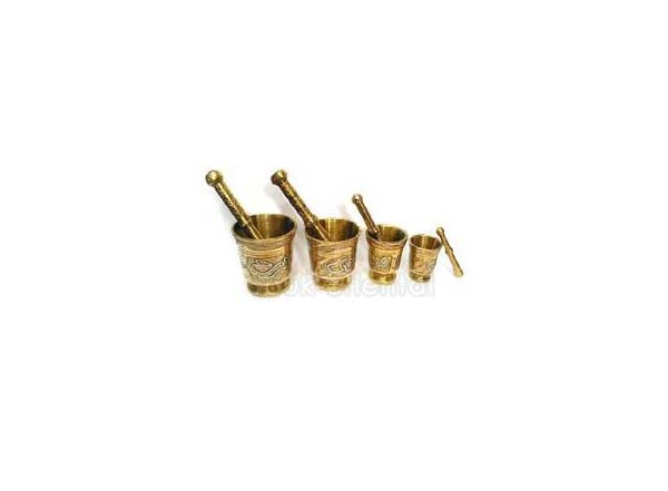 Set of Tunisian mortars with pestles copper