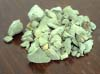Natural green clay into pieces