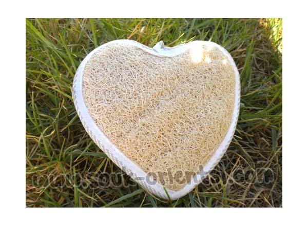 Loofah coeur gant de toilette artisanal