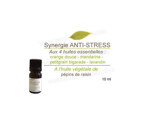 Synergy Anti-stress with 4 essential oils 10ml