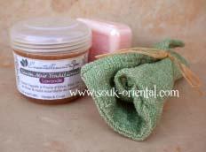 Pack savon noir gant de gommage savon floral