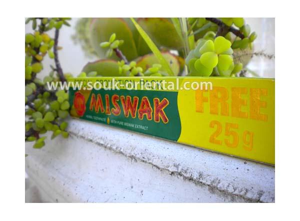 Dentifrice Dabur au miswak 50 gr + 25 gr FREE