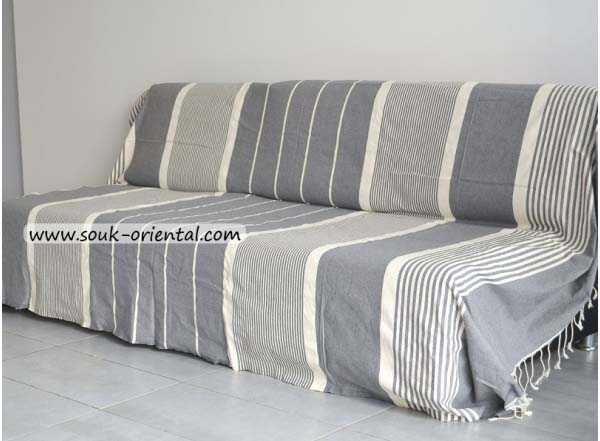 jet e de canap lit fouta xxl gris clair ray e ivoire. Black Bedroom Furniture Sets. Home Design Ideas