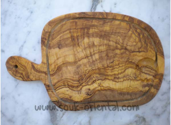 Cutting board olive wood natural, handcrafted.