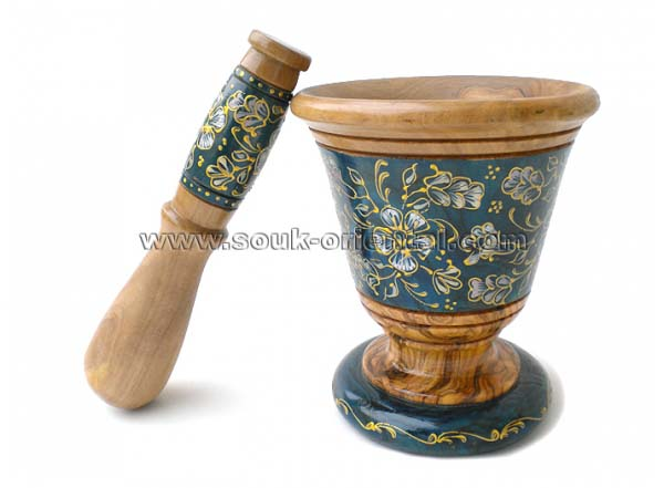 Olive wood mortar design