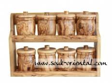 Spice Rack Wooden Olive