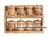 Etagère épices en bois olivier