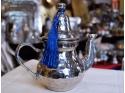 White Copper Teapot