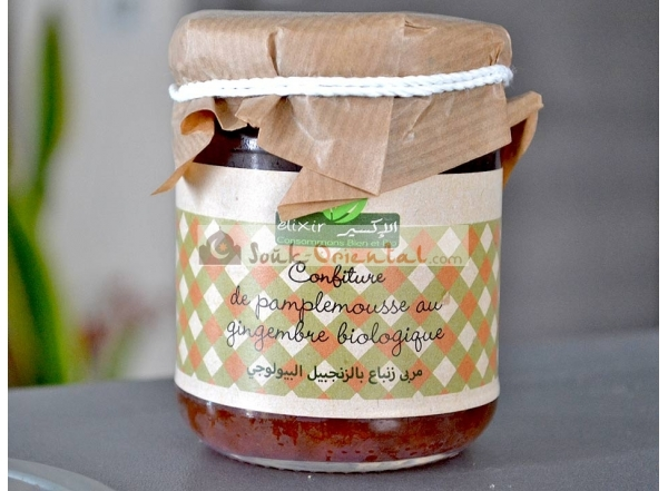 Organic Grapefruit Jam with Ginger