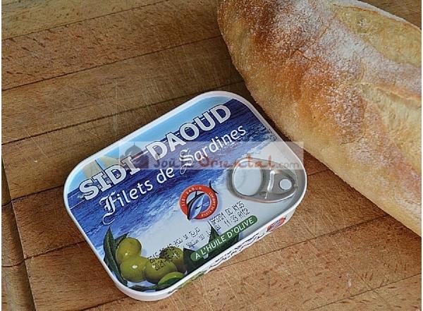 Filet de sardine à l'huile d'olive