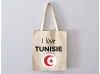 Sac Tote Bag I Love Tunisie