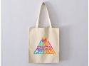 Bag Tote Bag BismiAllah in colorful triangle calligraphy