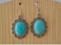 Boucles d'Oreille argentée pierre Turquoise