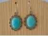 Boucles d'Oreille argentée Perle Turquoise