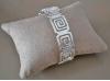 Bracelet manchette métal argenté carré géométrique