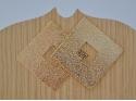 Golden square rhombus earrings