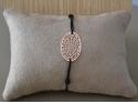 Bracelet pendentif Oval Rosé fantaisie