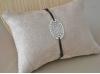 Bracelet pendentif Oval argenté fantaisie