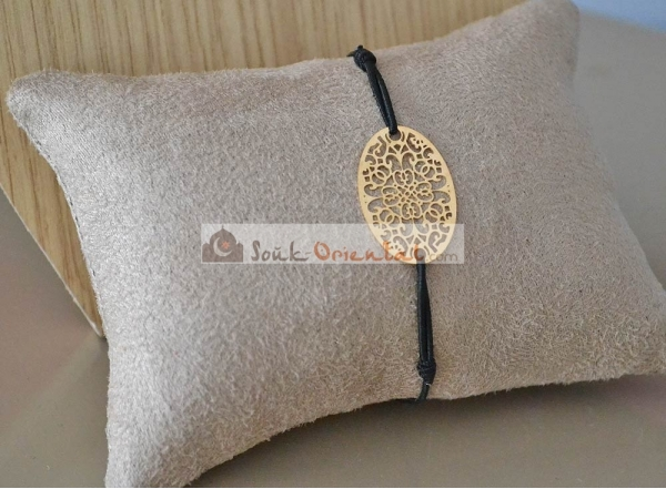 Bracelet pendentif Oval Doré fantaisie