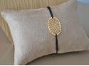 Oval Gold Fancy Pendant Bracelet