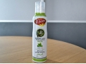 Organic extra virgin olive oil in basil flavored spray
