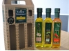 Coffret gourmet, huile d'olive extra vièrge et huile d'olive aromatisée