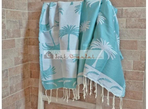 Fouta hammam towel white silver