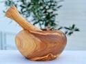 Mortier en bois d'olivier artisanal Tunisien