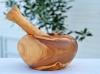 Olive wood mortar craft Tunisia
