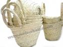 Lot of 12 small handmade bassinet from Tunisia