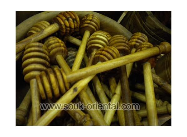 Cuillère à miel en bois d'olivier