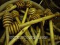 Lot de 10 Cuillères à miel en bois d'olivier