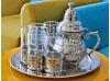 Service à thé en cuivre blanc