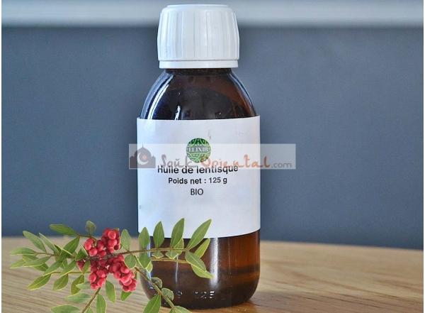 Huile végétale de lentisque BIO 100 % pure et naturelle