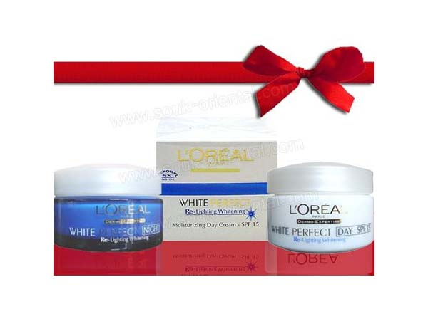 Pack 2 creams L'Oreal White Perfect Transparent Rosy