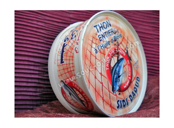 Tuna in olive oil Sidi Daoud, 620 gr